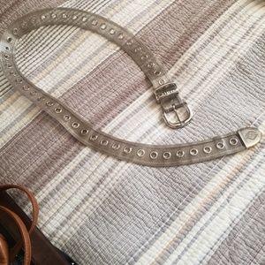 Harley Davidson silver metal belt.